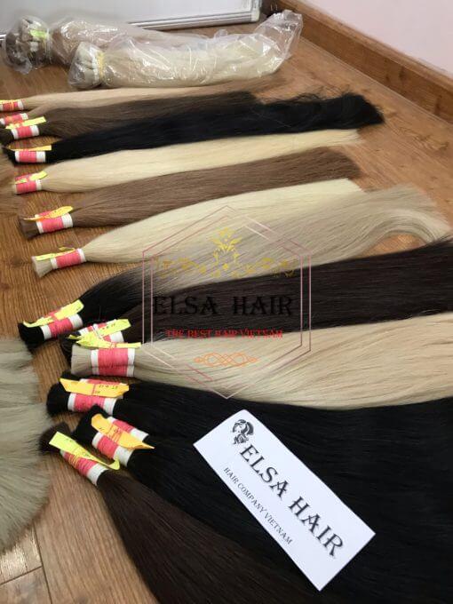 elsa hair, bulk hair, hair extension, vietnam hair
