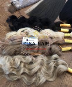 Bulk wavy hair , hair extension