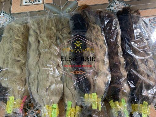 Bulk wavy hair extension
