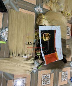Wefthair extension, elsa hair, Machine weft hair
